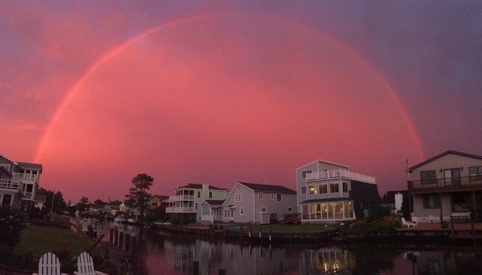 Double Rainbow over South Bethany homes and water