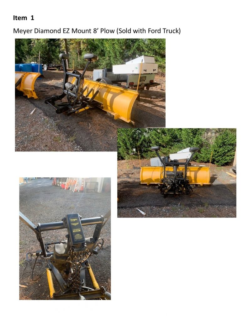 Meyer Diamond EZ Mount 8' Plow (Sold with Ford Truck)