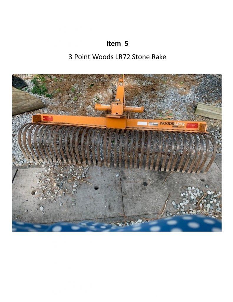 3 Points Woods LR72 Stone Rake